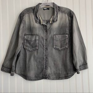 Urban Outfitters BDG top, faded black SIZE MEDIUM